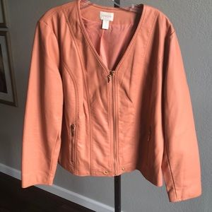 Chico's FAUX leather Jacket
